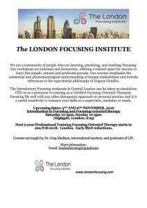 November 5-6 Central London weekend Introduction